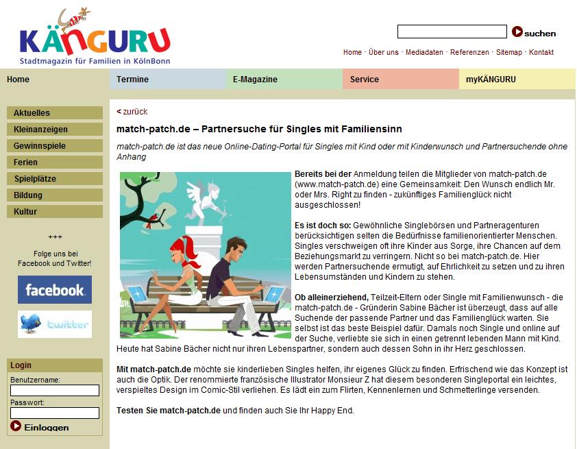 match-patch.de im Känguru-Magazin