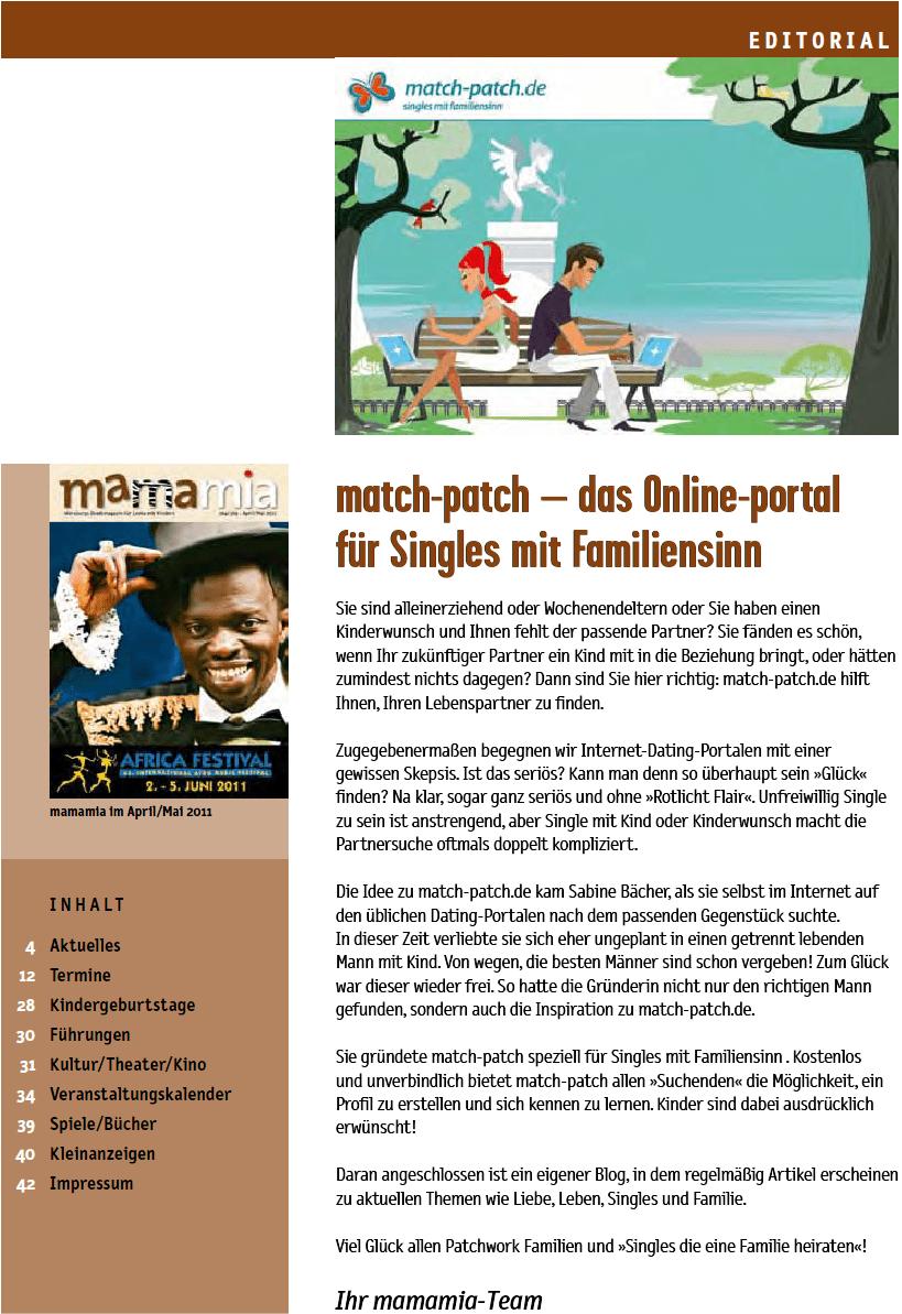 match-patch.de im Mamamia - Würzburgs Stadtmagazin für Leute mit Kindern