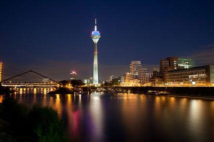 Abendstimmung in Düsseldorf