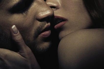 Photo of sensual kissing couple