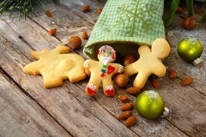 Weihnachtsplätzchen im Nikolausstrumpf